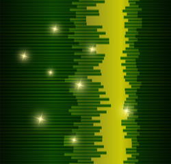 Vector glittering stars green background