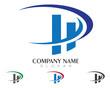 HD, HP, H, P Logo Template 3