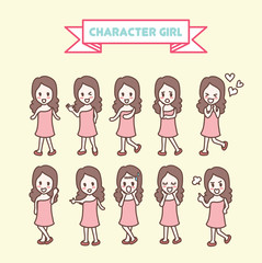 character girl collection