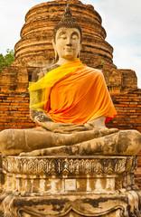 bouddha du temple de Wat Yai Chai Mongkol