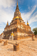 Thaïlande, temple de Wat Yai Chai Mongkol
