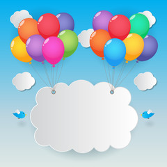 balloon sky background