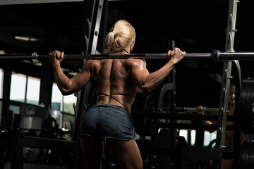 Woman Doing Squat Exercise For Legs