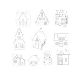 christmas house sketches