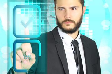 businessman avec hologramme