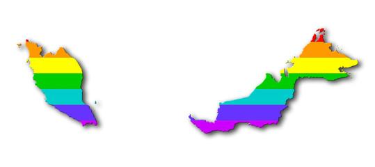 Rainbow flag pattern - Malaysia