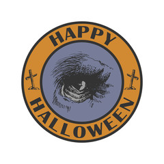 Hand drawn sign. Halloween. Vector illustration eps8