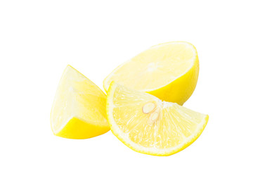 Lime slice isolated white clipping path