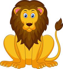 Cute lion cartoon