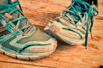Destroyed sneakers