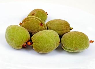 Freshly harvested almonds in pods © Arena Photo UK