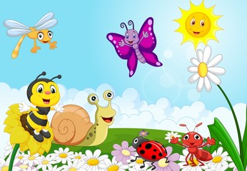 Cartoon small animals