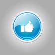 Thumbs Up Circular Vector Blue Web Icon Button