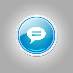 Message Circular Vector Blue Web Icon Button