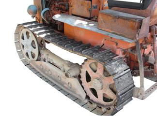 Old italian crawler tractor