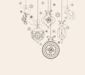 Christmas ornaments doodles