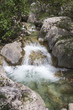 Small waterfall on mountain stream