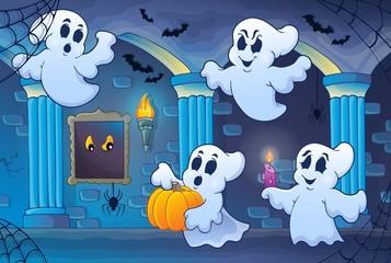 Haunted castle interior theme 6