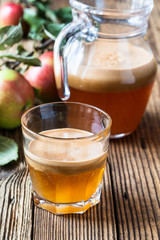 Homemade vegan apple juice