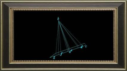 Cornice su cono geometrico