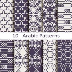 set of ten Arabic pattens