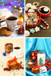 Christmas sweets collage