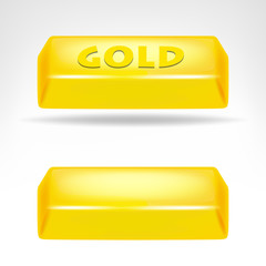 gold bar 3D design isolated