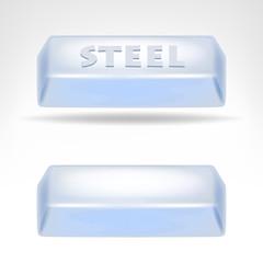 steel bar 3D design isolated