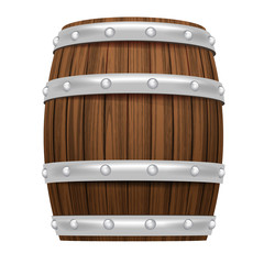 wooden barrel object 3D design isolated