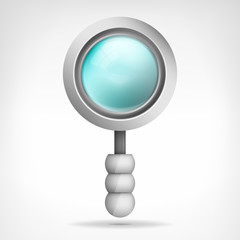 magnifying glass object 3D design isolated