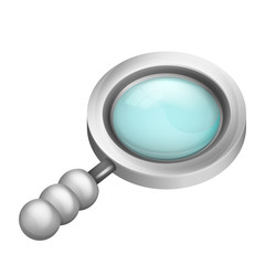 magnifying glass isometric object 3D design isolated