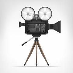 retro camera object 3D design isolated