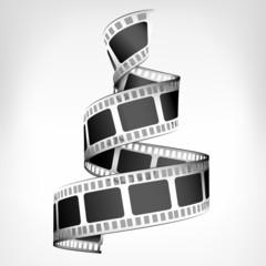 movie strip spiral 3D design isolated