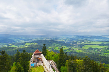 View from Kasperk castle on Sumava NP, Czech Republic
