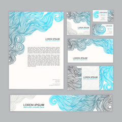corporate Identity with wave pattern