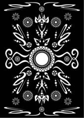Черно-белый узор