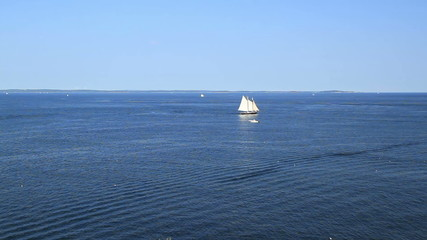Maine USA Sail Boat Time Lapse