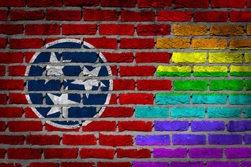 Dark brick wall - LGBT rights - Tennessee