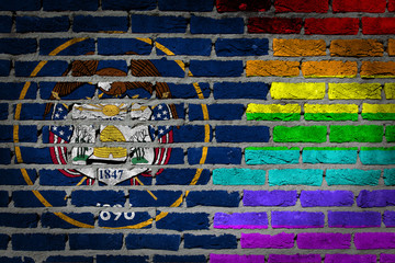 Dark brick wall - LGBT rights - Utah