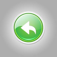 Reset Replay Circular Vector Green Web Icon Button