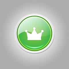 Crown Circular Vector Green Web Icon Button