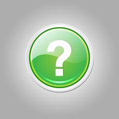 Help Circular Vector Green Web Icon Button