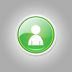 User Circular Vector Green Web Icon Button