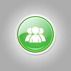 User Circular Vector Green Web Icon Button