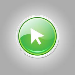 Click Circular Vector Green Web Icon Button
