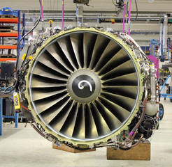 jet engine during maintenance