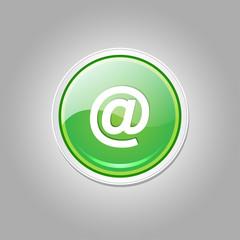 AT Circular Vector Green Web Icon Button