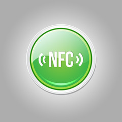 NFC Circular Vector Green Web Icon Button