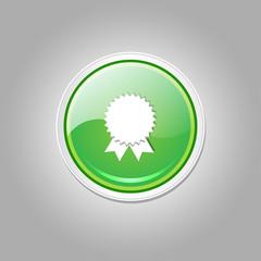 Medal Circular Vector Green Web Icon Button