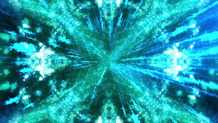 Electric Streaks Psychedelic VJ Looping Particle Background